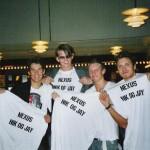 Flemming, Thomas, Thomas og Nicolajmed deres NEXUS Nik & Jay T-shirts