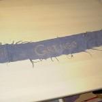 """Dette bælte er lavet af Kristine.""""Gringo"""" er broderet på bæltet."""