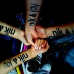 Nina, Nikita, Milena og Simone'sNik & Jay tatoveringer. Vi Rocker Horsens 21.05.2009