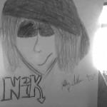 Nik tegning, af Malene